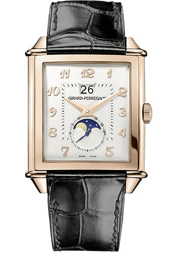 Girard-Perregaux Watches - Vintage 1945 XXL Large Date and Moon Phases - Pink Gold - Style No: 25882-52-121-BB6B