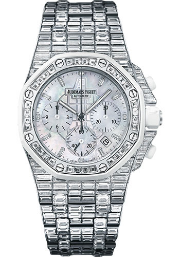 Audemars Piguet Watches - Royal Oak Offshore Chronograph 37mm - White Gold - Style No: 26114CK.ZZ.9181BC.01