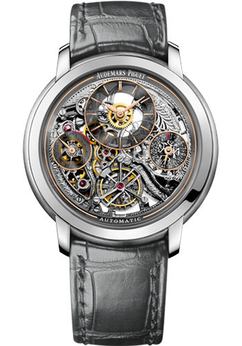 Audemars Piguet Watches - Jules Audemars Tourbillon Openworked - Style No: 26143PT.OO.D005CR.01