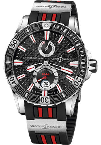 Ulysse Nardin Watches - Marine Diver 44mm - Stainless Steel - Rubber Strap - Style No: 263-10-3R/92