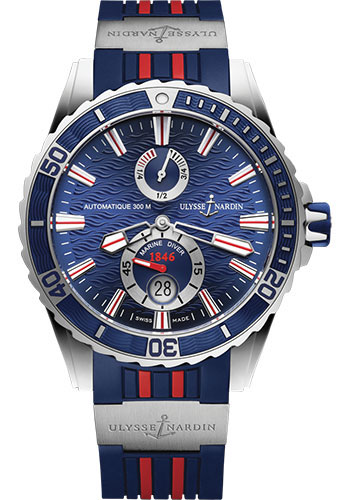 Ulysse Nardin Watches - Marine Diver 44mm - Stainless Steel - Rubber Strap - Style No: 263-10-3R/93