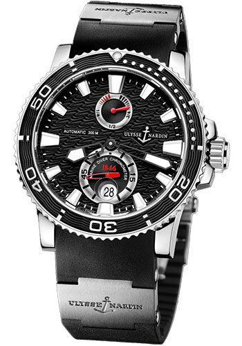 Ulysse Nardin Watches - Marine Diver 42.7mm - Steel - Rubber Strap - Style No: 263-33-3/82