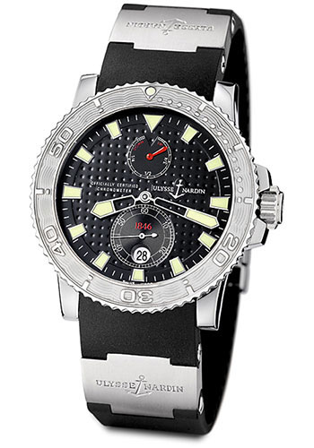 Ulysse Nardin Watches - Marine Diver 42.7mm - Steel - Rubber Strap - Style No: 263-33-3/92