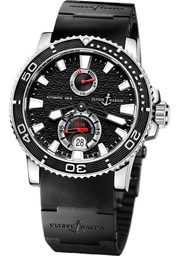 Ulysse Nardin Watches - Marine Diver 42.7mm - Steel - Rubber Strap - Style No: 263-33-3C/82