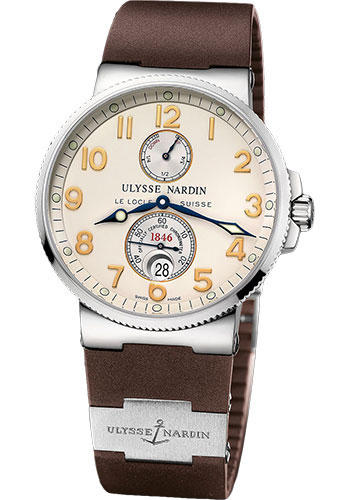 Ulysse Nardin Watches - Marine Chronometer 41mm - Stainless Steel - Rubber Strap - Style No: 263-66-3/60