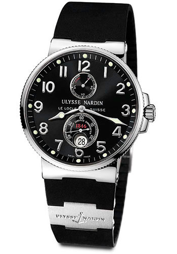 Ulysse Nardin Watches - Marine Chronometer 41mm - Stainless Steel - Rubber Strap - Style No: 263-66-3/62