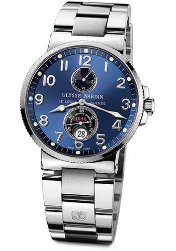 Ulysse Nardin Watches - Marine Chronometer 41mm - Stainless Steel - Bracelet - Style No: 263-66-7/623