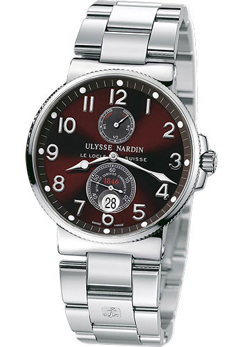 Ulysse Nardin Watches - Marine Chronometer 41mm - Stainless Steel - Bracelet - Style No: 263-66-7/625