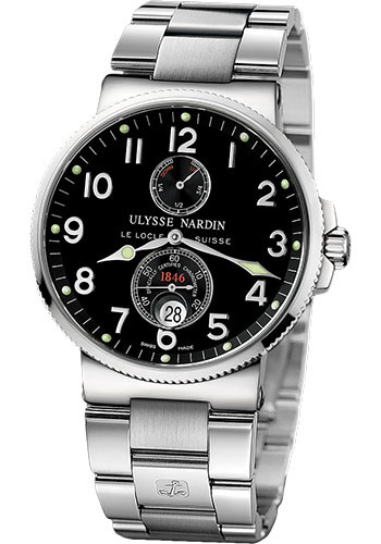 Ulysse Nardin Watches - Marine Chronometer 41mm - Stainless Steel - Bracelet - Style No: 263-66-7M/62
