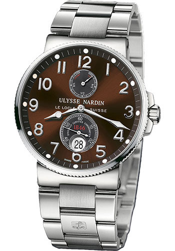 Ulysse Nardin Watches - Marine Chronometer 41mm - Stainless Steel - Bracelet - Style No: 263-66-7M/625