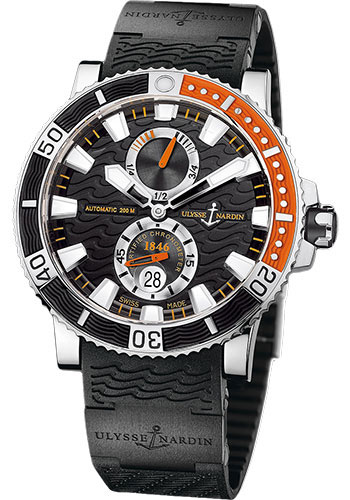 Ulysse Nardin Watches - Marine Diver 45mm - Titanium - Rubber Strap - Style No: 263-90-3C/92