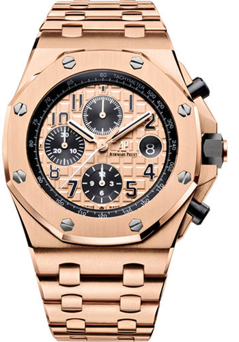 Audemars Piguet Watches - Royal Oak Offshore Chronograph 42mm - Pink Gold - Style No: 26470OR.OO.1000OR.01