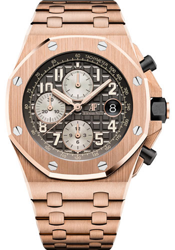 Audemars Piguet Watches - Royal Oak Offshore Chronograph 42mm - Pink Gold - Style No: 26470OR.OO.1000OR.02