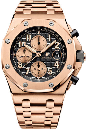 Audemars Piguet Watches - Royal Oak Offshore Chronograph 42mm - Pink Gold - Style No: 26470OR.OO.1000OR.03