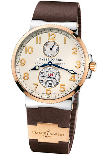 Ulysse Nardin Watches - Marine Chronometer 41mm - Steel and Gold - Rubber Strap - Style No: 265-66-3/60