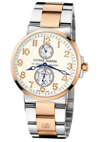 Ulysse Nardin Watches - Marine Chronometer 41mm - Steel and Gold - Bracelet - Style No: 265-66-8/60