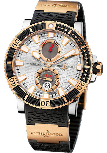 Ulysse Nardin Watches - Marine Diver 45mm - Titanium and Gold - Rubber Strap - Style No: 265-90-3/91