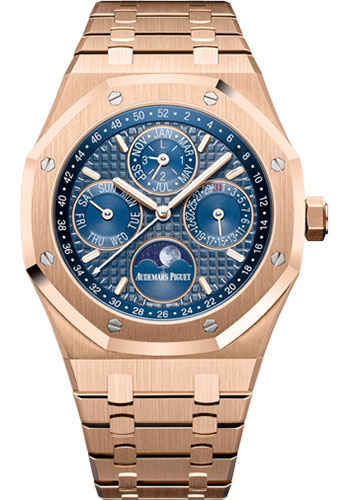 Audemars Piguet Watches - Royal Oak Perpetual Calendar - Pink Gold - Style No: 26574OR.OO.1220OR.02