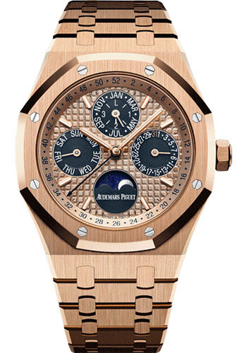 Audemars Piguet Watches - Royal Oak Perpetual Calendar - Pink Gold - Style No: 26584OR.OO.1220OR.01