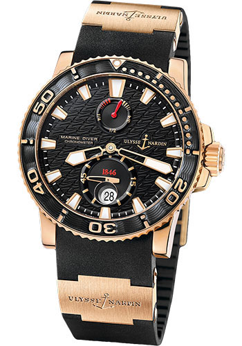 Ulysse Nardin Watches - Marine Diver 42.7mm - Rose Gold - Rubber Strap - Style No: 266-33-3A/922