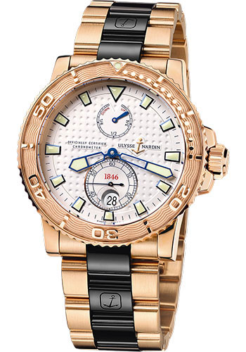 Ulysse Nardin Watches - Marine Diver 42.7mm - Rose Gold - Bracelet - Style No: 266-33-8C/90