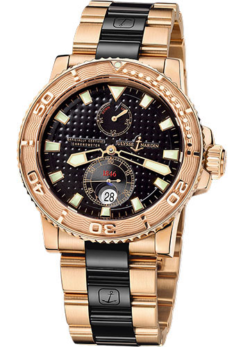 Ulysse Nardin Watches - Marine Diver 42.7mm - Rose Gold - Bracelet - Style No: 266-33-8C/92