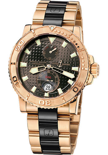Ulysse Nardin Watches - Marine Diver 42.7mm - Rose Gold - Bracelet - Style No: 266-33-8C/925