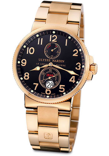 Ulysse Nardin Watches - Marine Chronometer 41mm - Rose Gold - Bracelet - Style No: 266-66-8/62