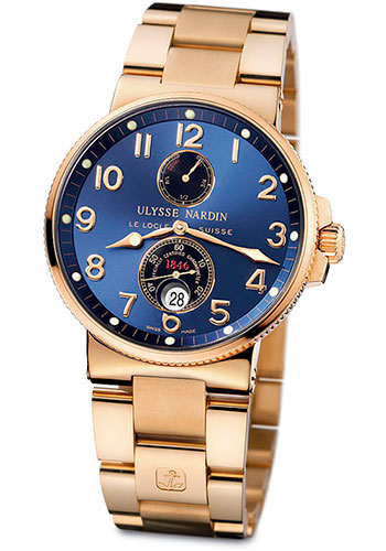 Ulysse Nardin Watches - Marine Chronometer 41mm - Rose Gold - Bracelet - Style No: 266-66-8/623
