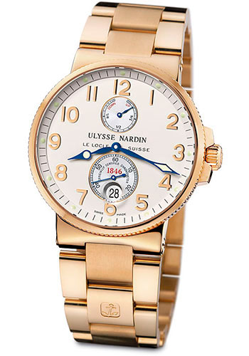 Ulysse Nardin Watches - Marine Chronometer 41mm - Rose Gold - Bracelet - Style No: 266-66-8
