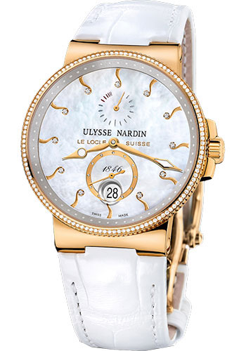 Ulysse Nardin Watches - Marine Chronometer 41mm - Rose Gold - Leather Strap - Style No: 266-66B/991