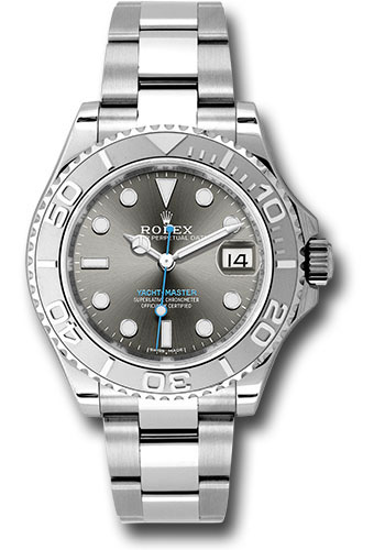 Rolex Watches - Yacht-Master 37 mm - Steel and Platinum - Style No: 268622 dkrh