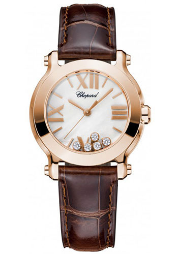 Chopard Watches - Happy Sport Round Mini Rose Gold - Style No: 274189-5001