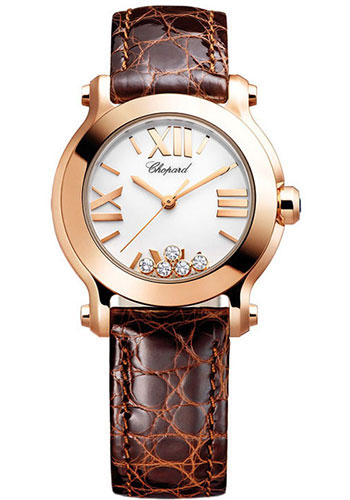 Chopard Watches - Happy Sport Round Mini Rose Gold - Style No: 274189-5010