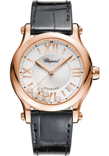 Chopard Watches - Happy Sport Round - 36mm - Rose Gold - Style No: 274808-5001