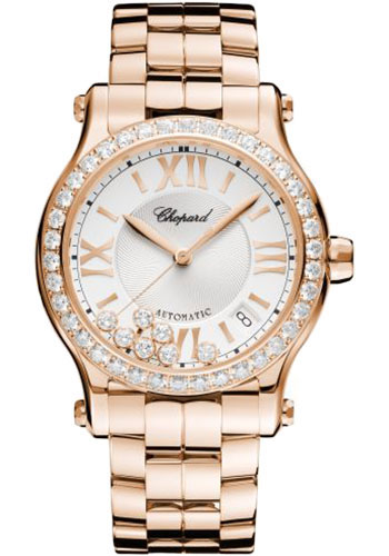 Chopard Watches - Happy Sport Round - 36mm - Rose Gold - Style No: 274808-5004