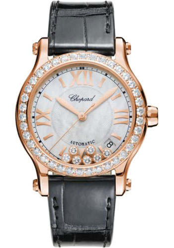 Chopard Watches - Happy Sport Round - 36mm - Rose Gold - Style No: 274808-5006