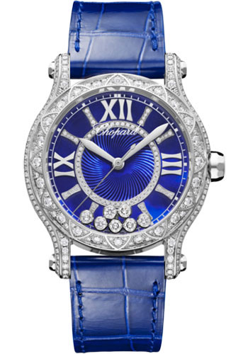 Chopard Watches - Happy Sport Joaillerie - 36mm - White Gold - Style No: 274891-1016