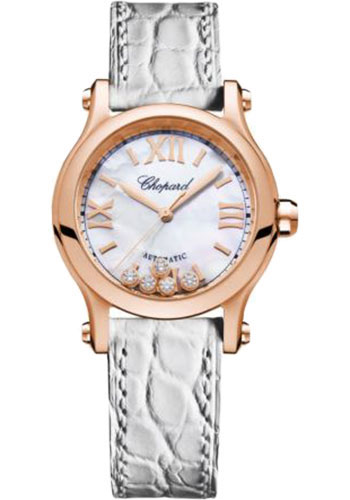 Chopard Watches - Happy Sport Round - 30mm - Rose Gold - Style No: 274893-5009