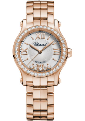 Chopard Watches - Happy Sport Round - 30mm - Rose Gold - Style No: 274893-5014