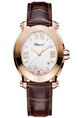 Chopard Watches - Happy Sport Oval Rose Gold - Style No: 275350-5001