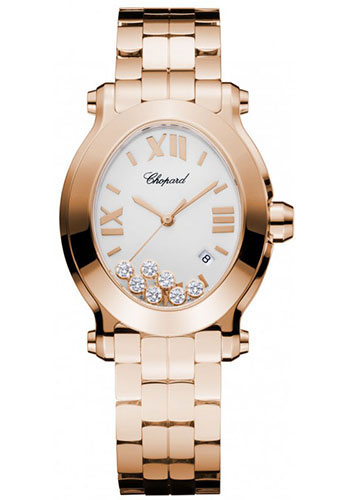 Chopard Watches - Happy Sport Oval Rose Gold - Style No: 275350-5002