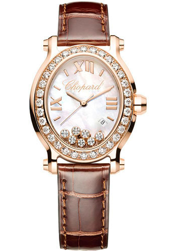 Chopard Watches - Happy Sport Oval Rose Gold - Style No: 275350-5003