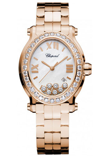 Chopard Watches - Happy Sport Oval Rose Gold - Style No: 275350-5004