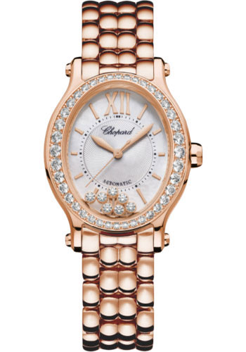Chopard Watches - Happy Sport Oval - Rose Gold - Style No: 275362-5005