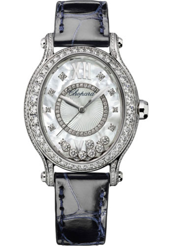 Chopard Watches - Happy Sport Oval - White Gold - Style No: 275372-1001