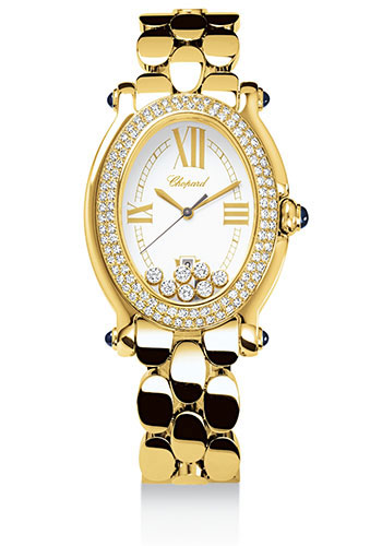 Chopard Watches - Happy Sport Oval Yellow Gold - Style No: 277079-0002