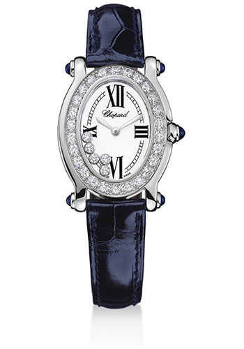 Chopard Watches - Happy Sport Oval White Gold - Style No: 277465-1006