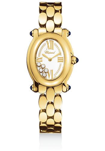 Chopard Watches - Happy Sport Oval Yellow Gold - Style No: 277466-0002