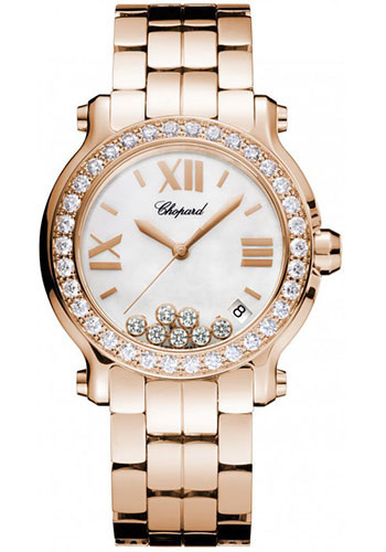Chopard Watches - Happy Sport Round Medium Rose Gold - Style No: 277481-5002